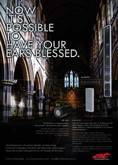 #ATProfessional - Products - For those times you want to be heard and not seen, Acoustic Technologies offers high intelligibility and a very unobtrusive profile!  #pasystem #audiotechnology