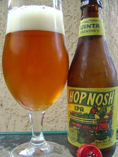 Hop Nosh IPA, Uinta Brewing ~ Nice grapefruit and tangerine citrus with a whiff of tropical goodness. Not that powerful though. Soft and creamy on the palate. Lots of tropical fruit, mainly mango and melon, survive a sea of bitter hops. Bold citrus and pine come through with an alcohol bite toward the finish. Very dry at the end. A lingering hoppy fruitiness lasts a long time on the palate. Soft and Strong at the same time, in all the right places.