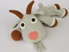 free crochet goat pattern | hope you like these two Amigurumi friends. :-) Please feel free to ...