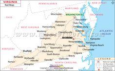 Virginia Railway Express Map