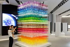 Paper art installation by Emmanuelle Moureaux at Space in Ginza exhibition Tokyo  Japan