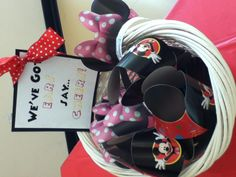Mickey and Minnie party hats