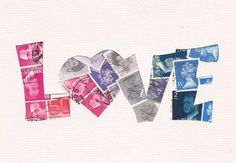 word Art  http://www.etsy.com/listing/83105181/red-heart-with-robins-postage-stamp
