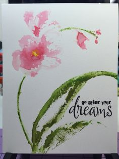 Gentle Whisper from penny black on Watercolor paper with distress inks