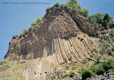 Basalt rock formation near Garni