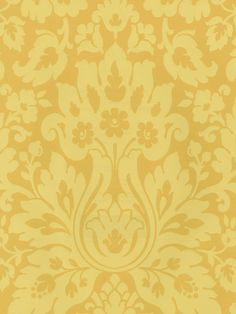 All yellow wallpaper is on sale during June at AmericanBlinds.com. Save on this Mustard Damask pattern and much more with code Yellow10.