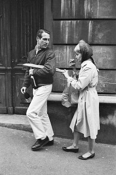 """Paul Newman and Joanne Woodward photographed in Paris, 1960."""