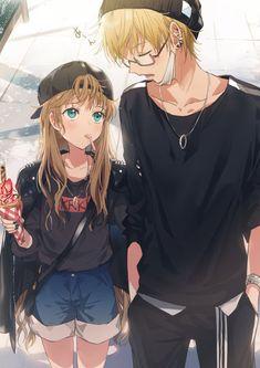 Anime romance Best Picture For abdomen fotos Fo. Manga Girl, Anime Girls, Anime Siblings, Kawaii Anime Girl, Kawaii Art, Anime Cupples, Anime Amor, Otaku Anime, Anime Best Friends