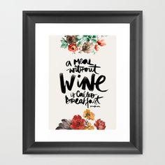 Vino Lámina enmarcada