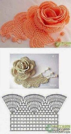 60 Gráficos de Flores de Crochê para Download - Grátis | Toda Atual