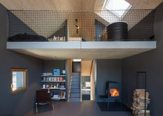 Dubbed Holzhaus am Auerbach, this holiday home has been designed by its owner-architects, Christine Arnhard and Markus Eck. The house is set in a small vil