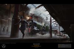 The Very Victorian Concept Art of Assassin's Creed Syndicate: Fernando Acosta is an artist who has done work for companies like WB Games, Square Enix and Hasbro. One of his more recent projects, though, was the just-released Assassin's Creed Syndicate. Nocturne, Xbox One, 4k Ultra Hd Wallpapers, Assassins Creed 1, All Assassin's Creed, Landscape Concept, Landscape Design, Train Art, Followers