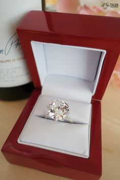 9 Carat Round Cut Solitaire Engagement Ring by TigerGemstones, $94.99
