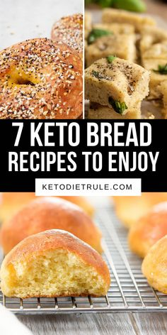 7 easy homemade keto and paleo bread recipes to curb your carb cravings and won't kick you out of ketosis. 7 easy homemade keto and paleo bread recipes to curb your carb cravings and won't kick you out of ketosis. Egg And Bread Recipes, Easy Keto Bread Recipe, Almond Flour Recipes, Whole Food Recipes, Keto Recipes, Coconut Flour, Healthy Recipes, Almond Meal, No Bread Diet