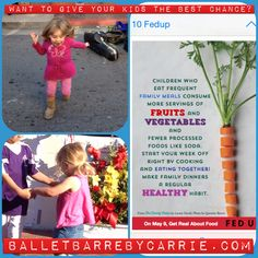 Are young dancers worried about weight or the simple joy of the dance? Family influence makes all the difference. Eat as a family.   www.balletbarrebycarrie.com   http://instagram.com/p/pjzcWPy5s9/