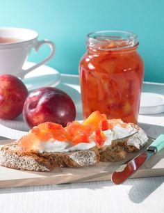 Apfel-Pflaumen-Fruchtaufstrich, kalorienreduziert - Ein fruchtiger Brotaufstrich mit Äpfeln und Pflaumen für den Sommer