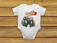 Baby bodysuit Newest golem clash of clans One by theclansstore, $14.00