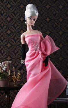 with Robert Best's Glam Gown BFMC Barbie doll by Mattel.