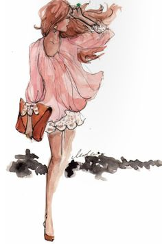The Sketch Book – Fashion Illustration by Inslee Haynes. Fashion Illustration Sketches, Art And Illustration, Fashion Sketches, Fashion Drawings, Art Illustrations, I Love Fashion, Fashion Art, Fashion Models, Skirt Fashion
