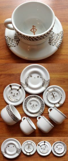 porcelain paint- this could also be done with a sharpie (just bake at 350 degrees for 10 minutes)
