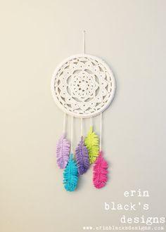 Atrapasueños al Crochet. White → colores!!!