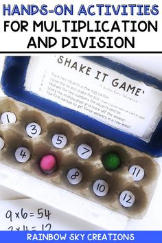 If you are looking for hands-on Multiplication and Division activities to use with your 3rd grade or 4th grade students, you will love my activities and games bundle! This comprehensive resource will provide your students with hands-on, differentiated activities that will build their multiplication and division skills, strategies, and fluency. These printable activities are perfect for whole class or math center activities. Division Activities, Multiplication Activities, Multiplication And Division, Math Activities, Teaching Math, Teaching Resources, Teaching Ideas, Professional Development For Teachers, Rainbow Sky