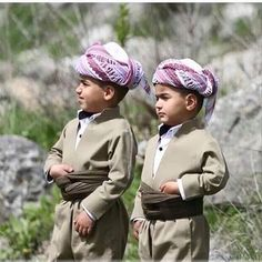 Adorable Kurdish Boys in traditional Costumes.