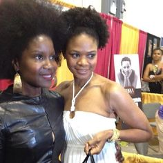 Here with lovely #naturalista and talented actress @ikimberlyelise. #teamnatural #KBBLoves #naturalhairhero