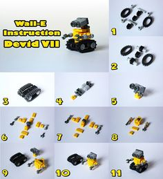 lego pop machine instructions - Wall-E Lego Duplo, Robot Lego, Lego Batman, Robots Robots, Lego Marvel, Wall E, Lego Design, Lego Disney, Disney Diy