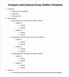 college compare and contrast essay examples Essay Outline Template - Free Sample, Example, Format Essay Outline Sample, Essay Outline Format, Essay Outline Template, Sample Essay, Speech Outline, Writing Outline, Essay Writing Skills, Academic Writing, Math Essay