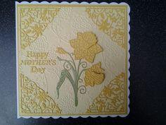 Tattered lace daffodil card