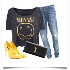 """Nirvana4ever"" by lareau-catherine on Polyvore"
