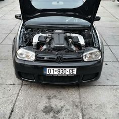 VW Golf with Audi RS Twin-Turbo V10 Engine Has a Heavy Nose, but Goes like Hell
