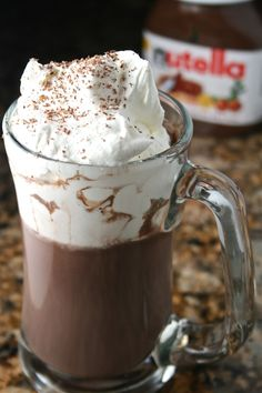 Ingredients: Serves: 1 Prep Time: 1 minute Cook time:  5 mins Total Time: 6 minutes  Nutella Hot Chocolate: 1 cup milk (I use skim) 2½ Tbsp Nutella 1 Tbsp Cocoa Ti