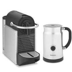 Nespresso Pixie Espresso Maker with Aeroccino Plus Automatic Milk Frother #williamssonoma