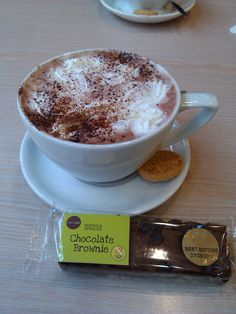 Marks and Spencers Hot chocolate, really, really nice!