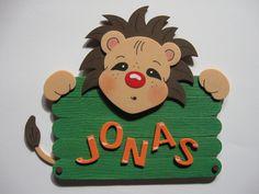 Namensschild Türschild Löwe mit Wunschname von conchila auf DaWanda.com