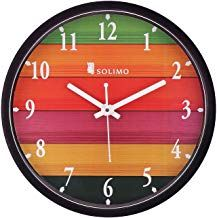 Amazon Brand Solimo 12 Inch Wall Clock Different Strokes Step Movement Black Frame Wall Clock Clock Wall