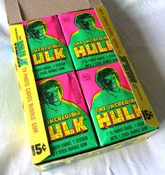 1979 The Incredible Hulk Full Wax Box Trading Cards 36 Packs RARE | eBay