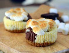 S'mores Mini Cheesecakes