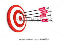 Target Sale Company Report For Each Year   - stock vector