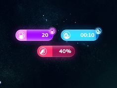 Dribbble - New Space GUI v2 by Michal Hotovec