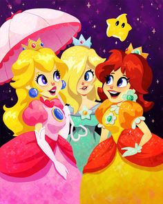 Mario Princesses by Megan Fisher, signed 8X10 print