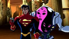 Animated Legion Chronology: Superman X and K3NT in the 41st century. From Legion season 2, episode 1 (2007).