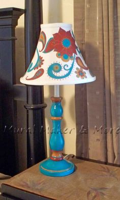 Paisley Thrift Store Lamp Makeover, The Effective Pictures We Offer You Abo Painting Lamp Shades, Painting Lamps, Home Design, Lamp Makeover, Lamp Redo, Lounge Chair, Thrift Store Crafts, Paint Furniture, Lamp Bases