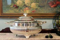 Elegant Three Piece Silver Plate Serving Set.