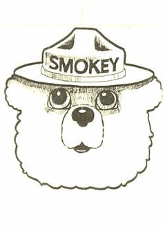 1000 images about firefighter party on pinterest for Free smokey the bear coloring pages
