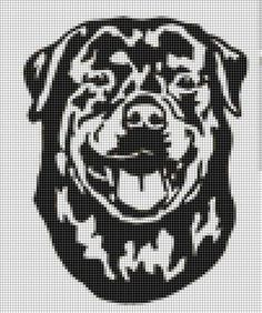 Why Rottweilers are great companions Embroidery Stitches, Embroidery Patterns, Cross Stitch Patterns, Crochet Patterns, Pix Art, Graph Paper Art, Peler Beads, Graph Design, Cross Stitch Alphabet