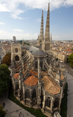 Cathédrale Saint-André de Bordeaux, France.