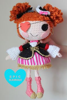 Ravelry: LALALOOPSY Peggy Seven Seas Crochet Amigurumi Doll pattern by Epic Kawaii